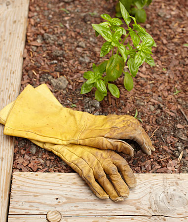 LONG LEATHER GARDENING GLOVES