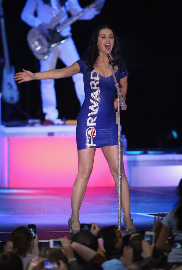 katy perry barack obama rally wisconson dress