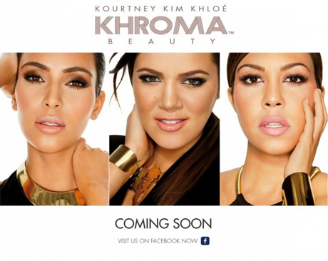 Kim Kourtney Khloe Kardashian Khroma Beauty Photos 005 780x555