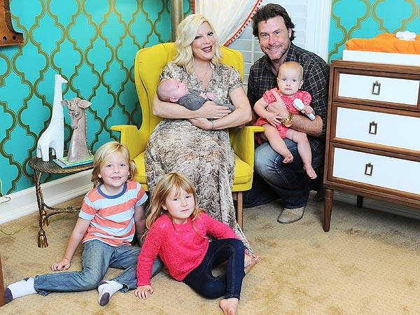 Tori Spelling Introduces Son Finn Davey