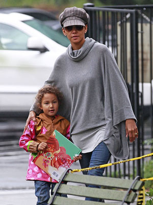 Halle Berry and Nahla Book It
