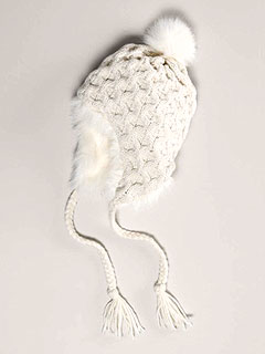 American Eagle Cream Knit Hat