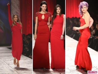 Red Dress Collection Fashion Show with Kylie and Kendall Jenner and Kelly Osbourne